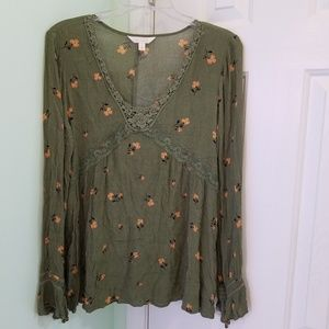 Women's size Large Lc Lauren Conrad boho top